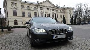 Zawiozę do ślubu limuzyną BMW 5 F10 / auto, samochód na wesele