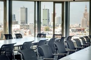Panorama Waszawy do filmu | Biura | Coworking | Call Center | Open Space | Sala Konferencyjna z widokiem